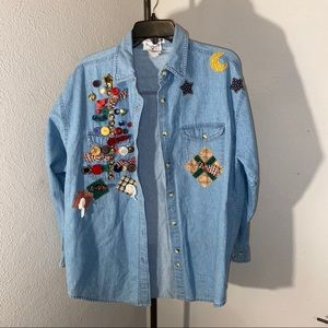 Custom denim shirt